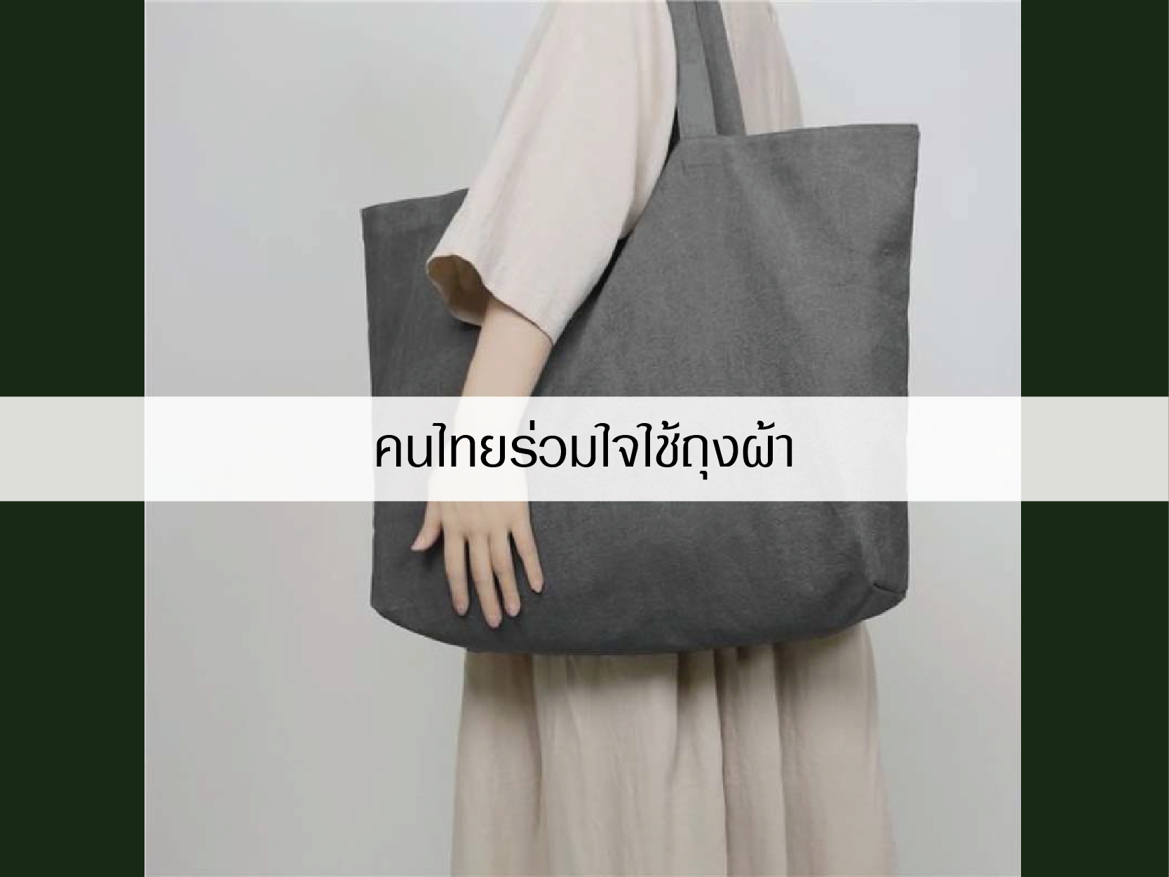 คนไทยร่วมใจใช้ถุงผ้า